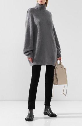 Женская шерстяной свитер DRIES VAN NOTEN серого цвета, арт. 192-11236-8714 | Фото 2