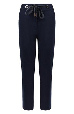 Женские брюки из смеси шерсти и кашемира ELEVENTY синего цвета, арт. 980PA0163 JAC28012   Фото 1