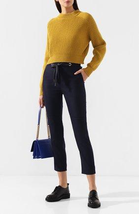 Женские брюки из смеси шерсти и кашемира ELEVENTY синего цвета, арт. 980PA0163 JAC28012   Фото 2