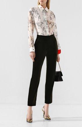 Женские хлопковые брюки DOLCE & GABBANA хаки цвета, арт. FTAM2T/FUWB3 | Фото 2