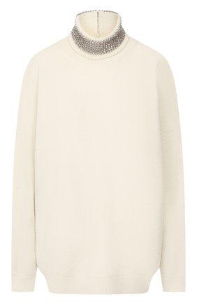 Женская шерстяной свитер ALEXANDER WANG бежевого цвета, арт. 1KC2191135 | Фото 1