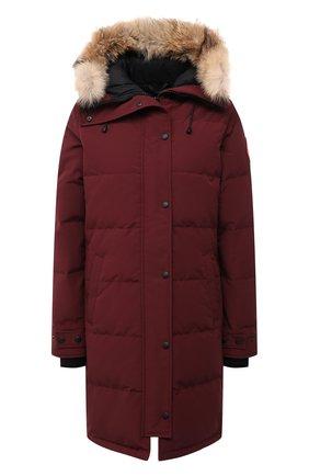 Женский пуховик shelburne CANADA GOOSE бордового цвета, арт. 3802L | Фото 1