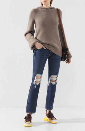 Женские джинсы с потертостями KHAITE темно-синего цвета, арт. 1036-049/KYLE | Фото 2