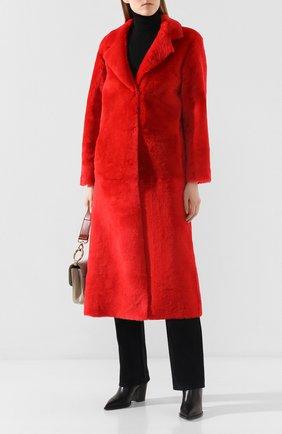 Женская дубленка из овчины REDVALENTINO красного цвета, арт. SR0FA00D/4LA | Фото 2