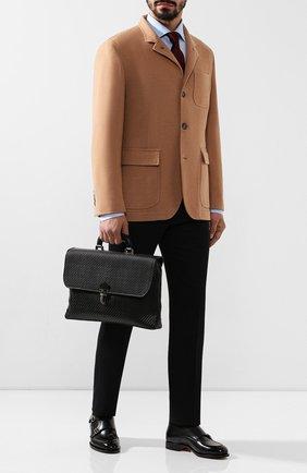 Мужской кожаный портфель ERMENEGILDO ZEGNA черного цвета, арт. C1384P-LHPTA | Фото 2
