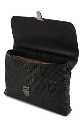 Мужской кожаный портфель ERMENEGILDO ZEGNA черного цвета, арт. C1384P-LHPTA   Фото 4