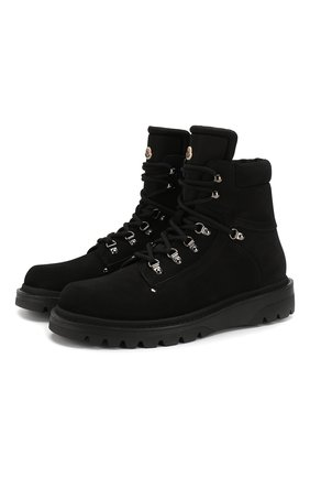 Мужские замшевые ботинки egide MONCLER черного цвета, арт. E2-09A-10100-00-01AMR | Фото 1