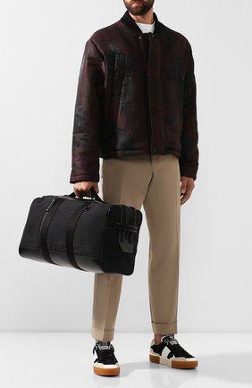 Мужская текстильная дорожная сумка BERLUTI черного цвета, арт. M183357 | Фото 2