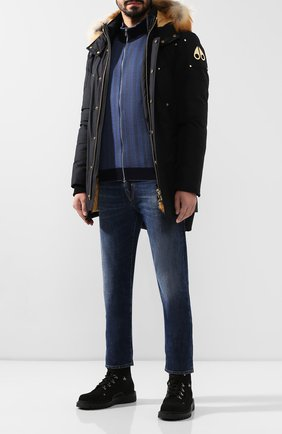 Мужская шерстяной кардиган SVEVO темно-синего цвета, арт. 13071SA19/MP13   Фото 2