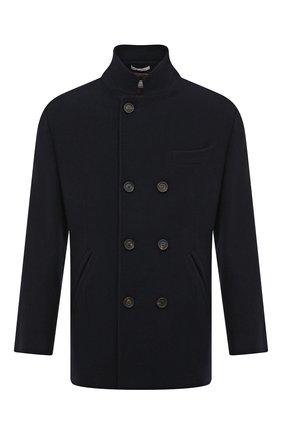 Мужской кашемировое пальто BRUNELLO CUCINELLI темно-синего цвета, арт. MT4977003 | Фото 1