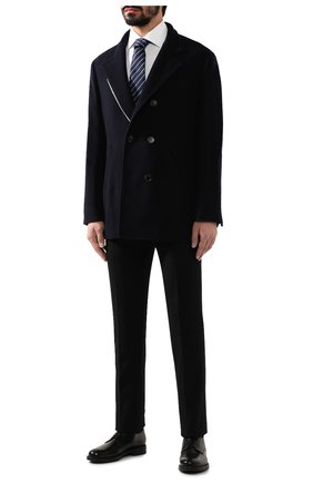 Мужской кашемировое пальто BRUNELLO CUCINELLI темно-синего цвета, арт. MT4977003 | Фото 2