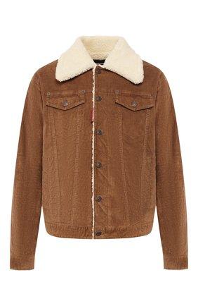 Мужская хлопковая куртка DSQUARED2 бежевого цвета, арт. S74AM0932/S40737 | Фото 1