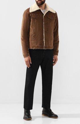 Мужская хлопковая куртка DSQUARED2 бежевого цвета, арт. S74AM0932/S40737 | Фото 2