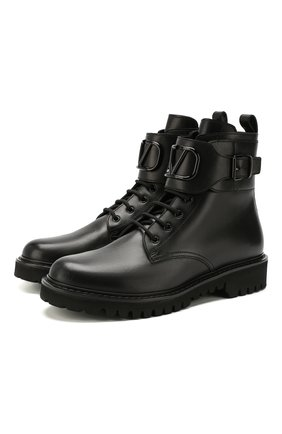 Кожаные ботинки Valentino Garavani | Фото №1