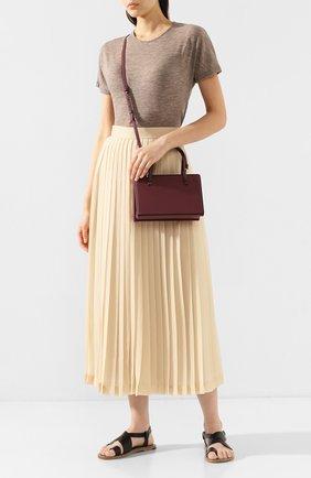 Женская сумка postal LOEWE бордового цвета, арт. 309.56.W84   Фото 2