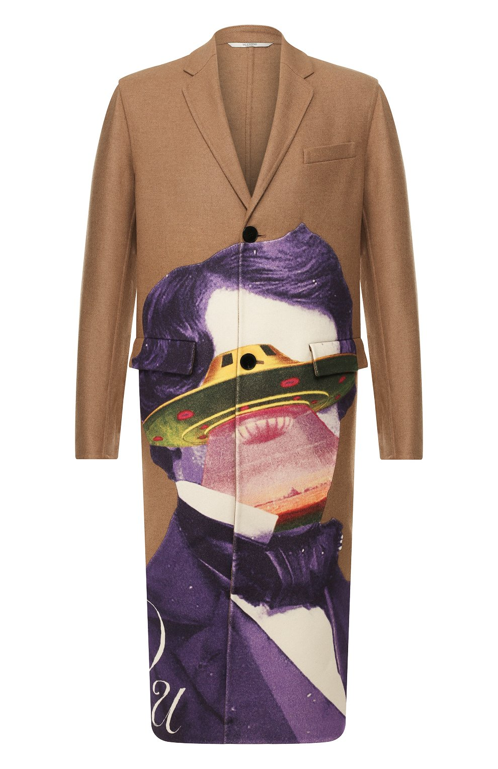 Мужской шерстяное пальто valentino x undercover VALENTINO бежевого цвета, арт. SV0CAA855PU | Фото 1