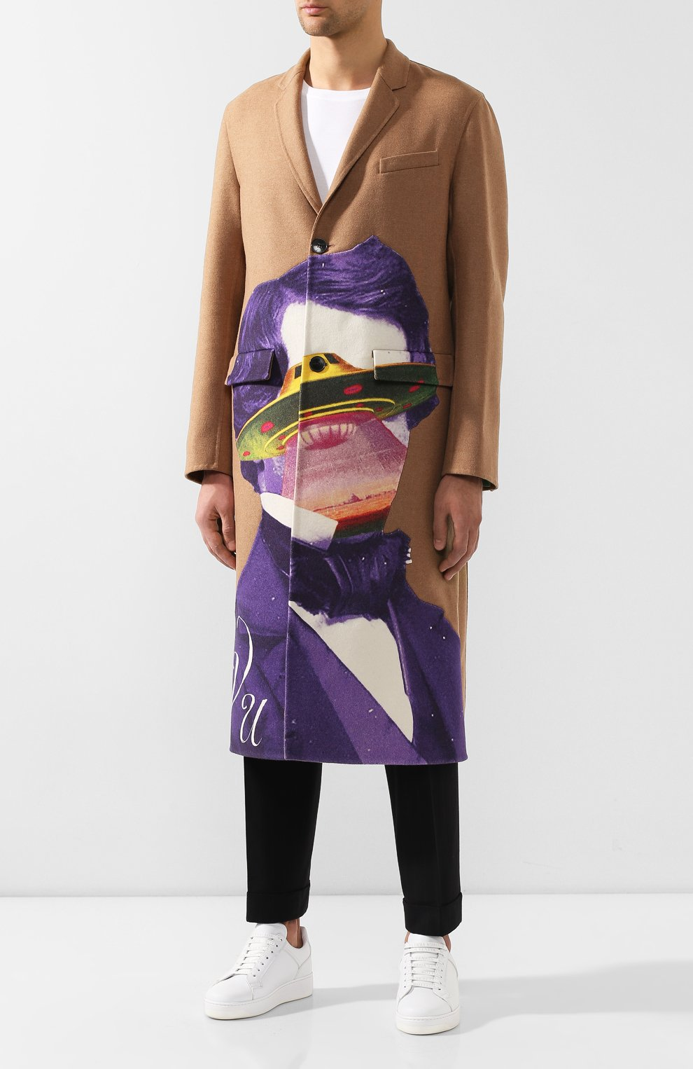 Мужской шерстяное пальто valentino x undercover VALENTINO бежевого цвета, арт. SV0CAA855PU | Фото 3