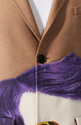 Мужской шерстяное пальто valentino x undercover VALENTINO бежевого цвета, арт. SV0CAA855PU | Фото 5