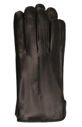 Кожаные перчатки с меховой подкладкой | Фото №1