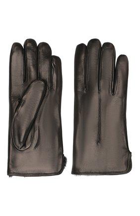 Кожаные перчатки с меховой подкладкой | Фото №2