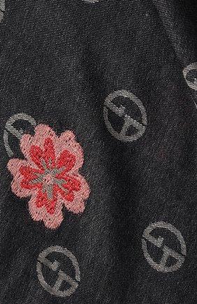 Женский платок из смеси вискозы и шерсти GIORGIO ARMANI синего цвета, арт. 795313/9A120 | Фото 2