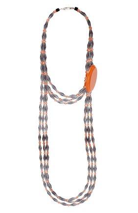 Женское колье GIORGIO ARMANI оранжевого цвета, арт. 61C012/9A712 | Фото 1