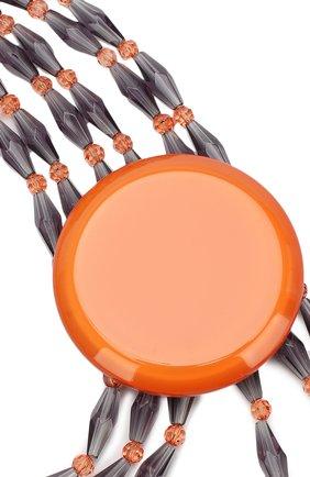 Женское колье GIORGIO ARMANI оранжевого цвета, арт. 61C012/9A712 | Фото 2