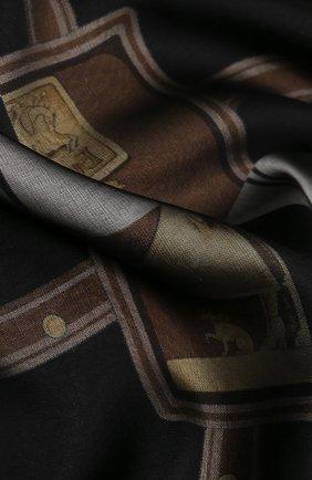 Женский шелковый платок BURBERRY черно-белого цвета, арт. 8016447 | Фото 2