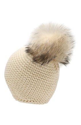 Женский кашемировая шапка INVERNI белого цвета, арт. 1547CM | Фото 2
