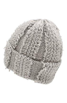 Женский кашемировая шапка INVERNI серого цвета, арт. 4627CM | Фото 2