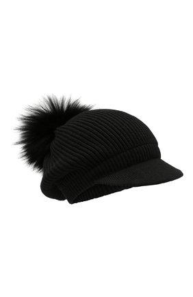 Женский кашемировая шапка INVERNI черного цвета, арт. 4694CM | Фото 1