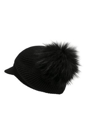 Женский кашемировая шапка INVERNI черного цвета, арт. 4694CM | Фото 2