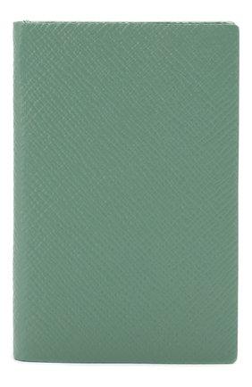 Мужской записная книжка в кожаной обложке SMYTHSON зеленого цвета, арт. 1023840 | Фото 1