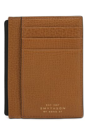 Женский кожаный футляр для кредитных карт SMYTHSON коричневого цвета, арт. 1024170   Фото 1