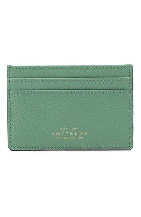 Женский кожаный футляр для кредитных карт SMYTHSON зеленого цвета, арт. 1024223   Фото 1
