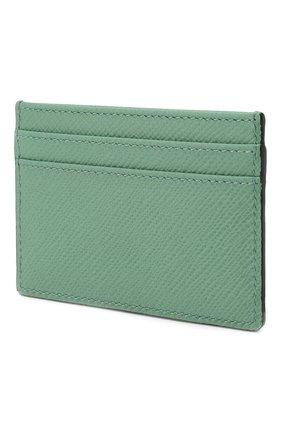 Женский кожаный футляр для кредитных карт SMYTHSON зеленого цвета, арт. 1024223   Фото 2