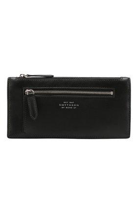 Женские кожаный кошелек SMYTHSON черного цвета, арт. 1025085   Фото 1