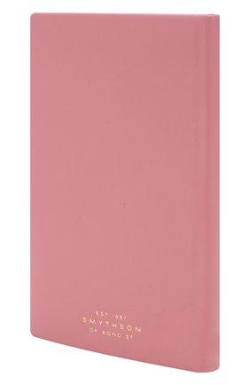 Мужской записная книжка в кожаной обложке SMYTHSON розового цвета, арт. 1025323 | Фото 2
