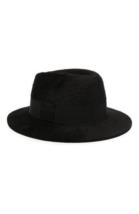 Женская фетровая шляпа SAINT LAURENT черного цвета, арт. 580332/4YA58 | Фото 1