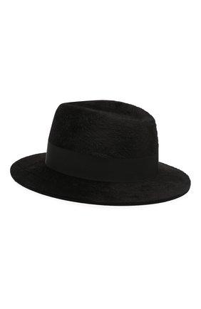 Женская фетровая шляпа SAINT LAURENT черного цвета, арт. 580332/4YA58 | Фото 2