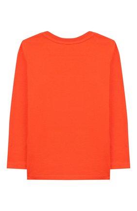 Детский хлопковый лонгслив KENZO оранжевого цвета, арт. KP10557 | Фото 2