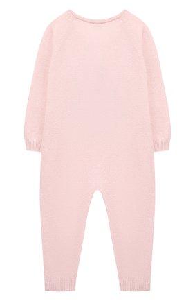 Детский комбинезон из шерсти и кашемира BABY T светло-розового цвета, арт. 19AI141T/18M-2A | Фото 2