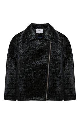 Детская куртка с косой молнией PAADE MODE черного цвета, арт. 94081/6M-8Y | Фото 1