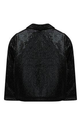 Детская куртка с косой молнией PAADE MODE черного цвета, арт. 94081/6M-8Y | Фото 2