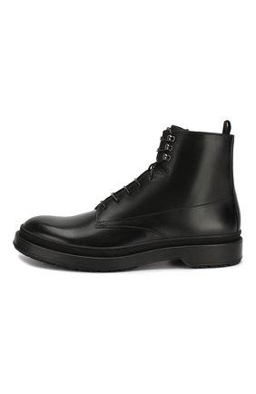 Мужские кожаные ботинки BOSS черного цвета, арт. 50415010 | Фото 3