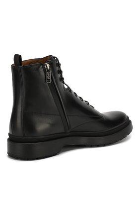 Мужские кожаные ботинки BOSS черного цвета, арт. 50415010 | Фото 4