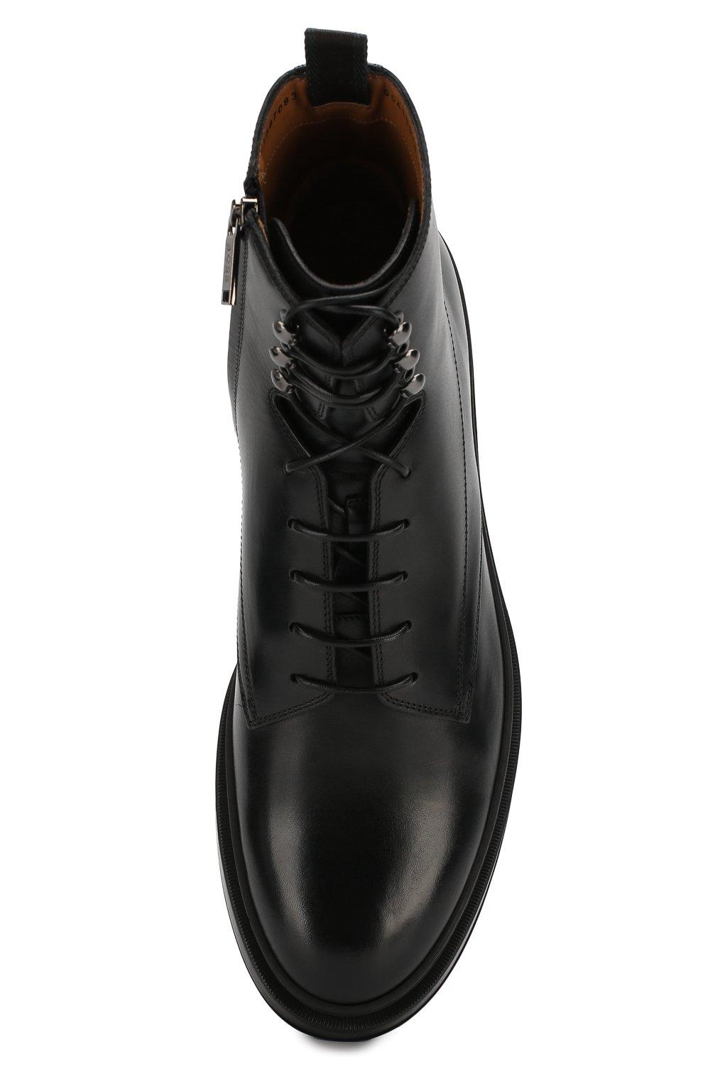 Мужские кожаные ботинки BOSS черного цвета, арт. 50415010 | Фото 5