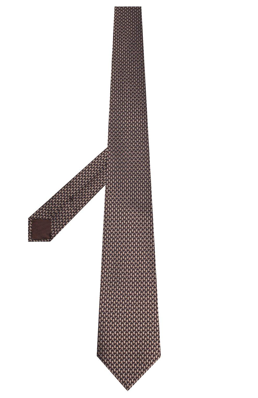 Мужской шелковый галстук BRIONI коричневого цвета, арт. 062H00/08452 | Фото 2