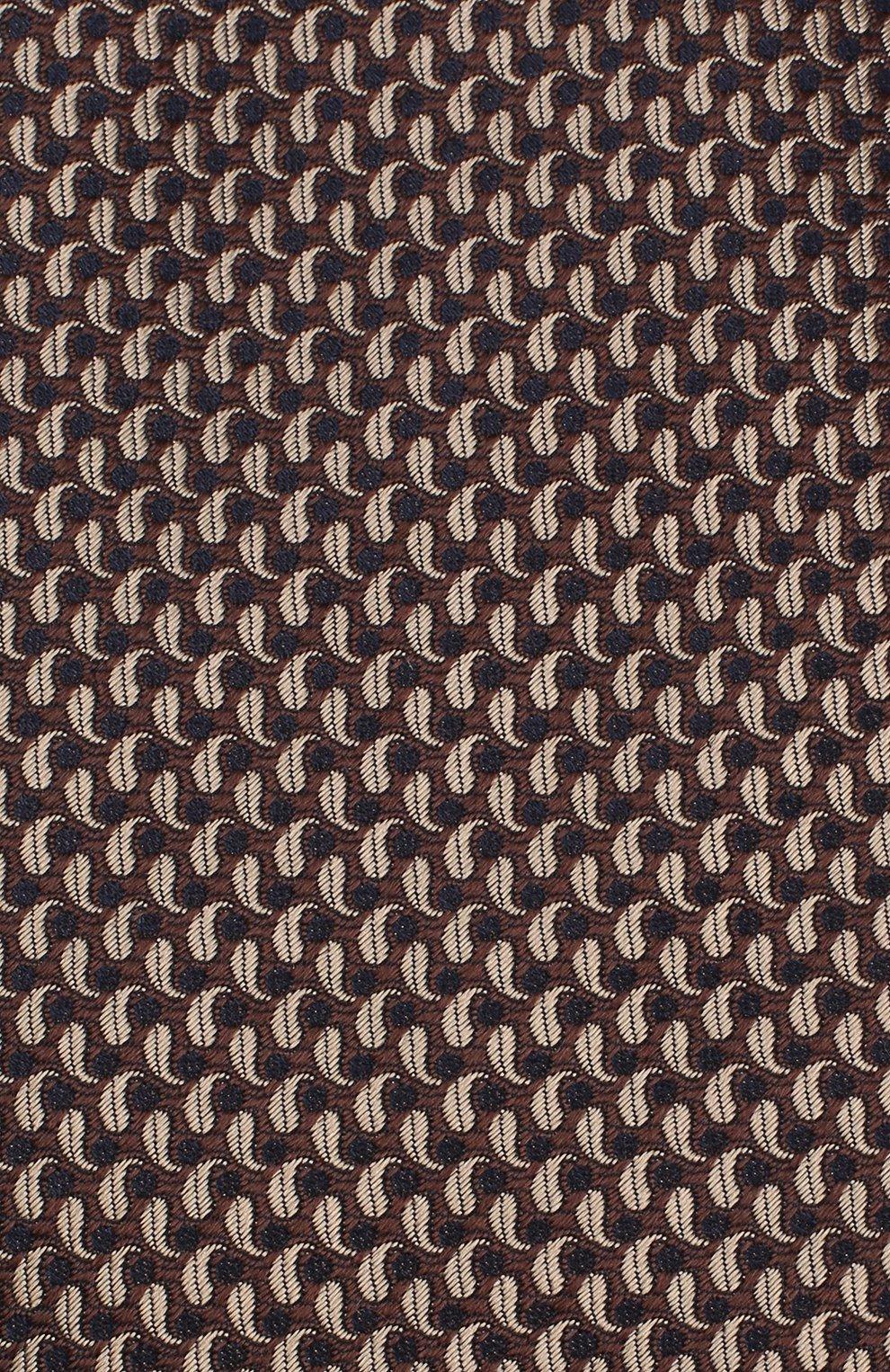 Мужской шелковый галстук BRIONI коричневого цвета, арт. 062H00/08452 | Фото 3