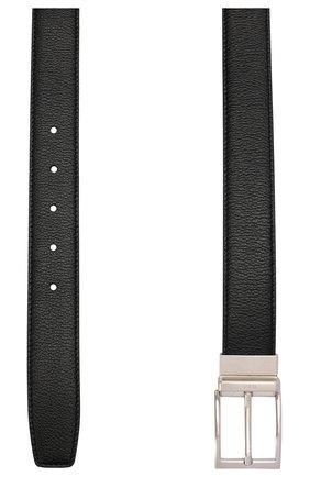 Мужской кожаный ремень TOD'S черного цвета, арт. XCMCQM40100SUN | Фото 2